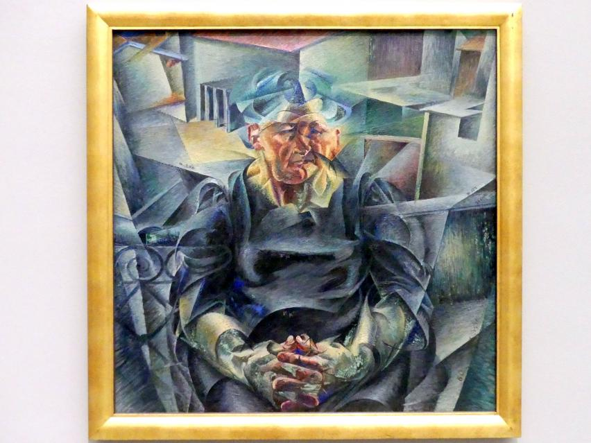Umberto Boccioni: Costruzione orizzontale (Volumi orizzontali) - Horizontale Konstruktion (Horizontale Volumen), 1912