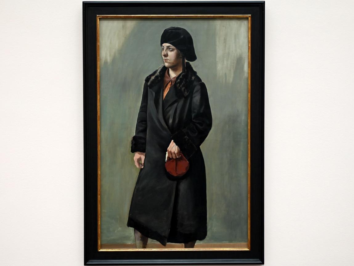 George Grosz: Frau im schwarzen Mantel, 1927