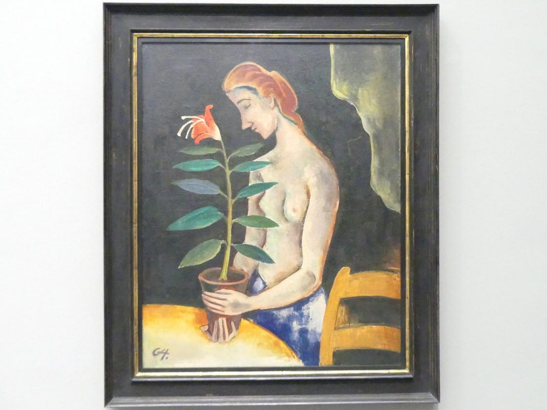 Karl Hofer (Carl Hofer): Mädchen mit Blume, um 1920