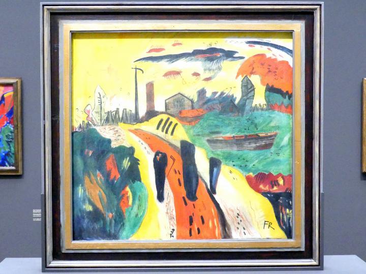 Franz Radziwill: Landschaft mit drei schwarzen Schemen, 1920 - 1921