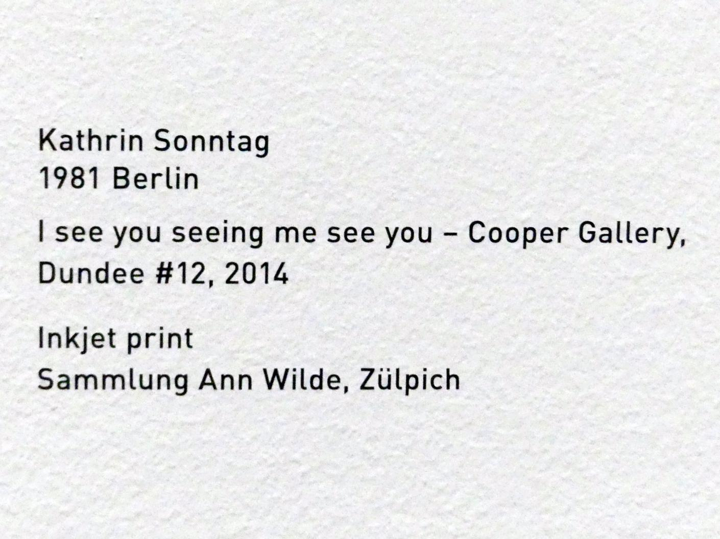 Kathrin Sonntag: I see you seeing me see you - Cooper Gallery Dundee #12, 2014, Bild 2/2
