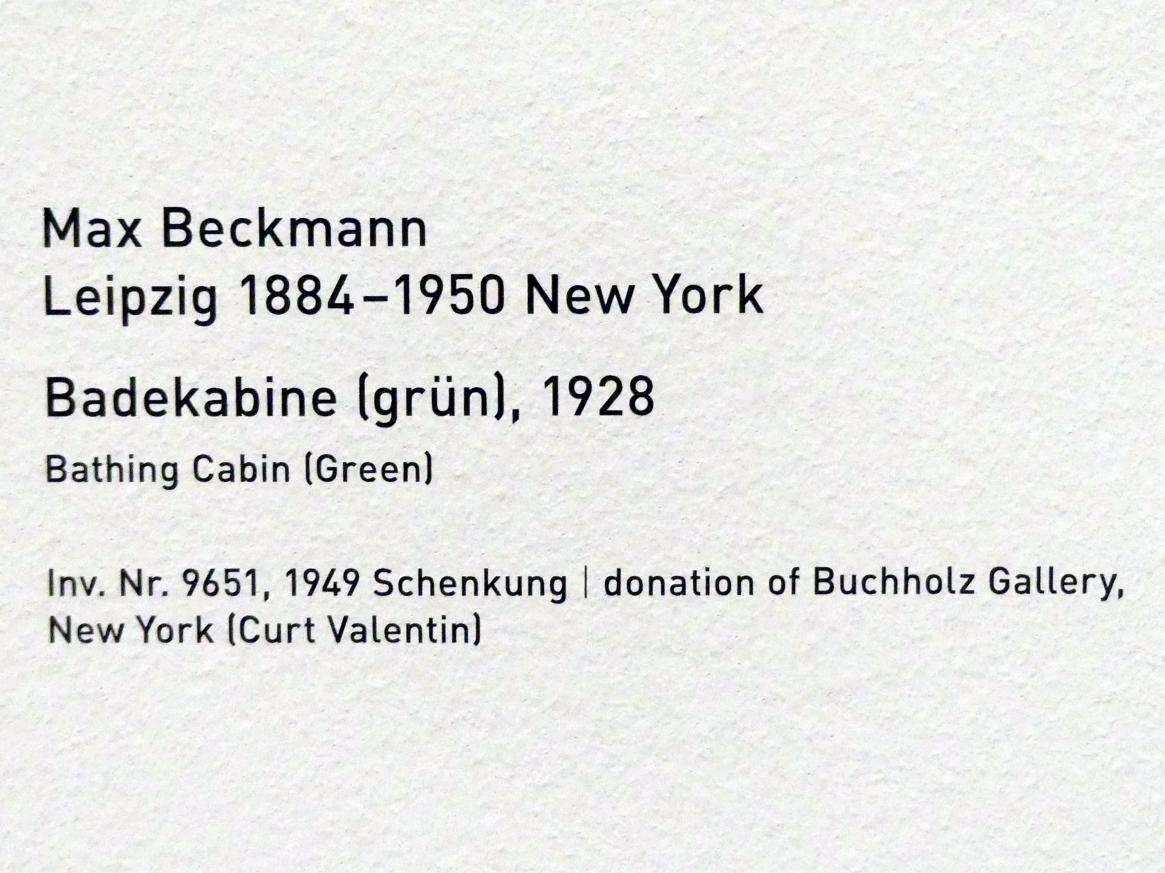 Max Beckmann: Badekabine (grün), 1928, Bild 2/2