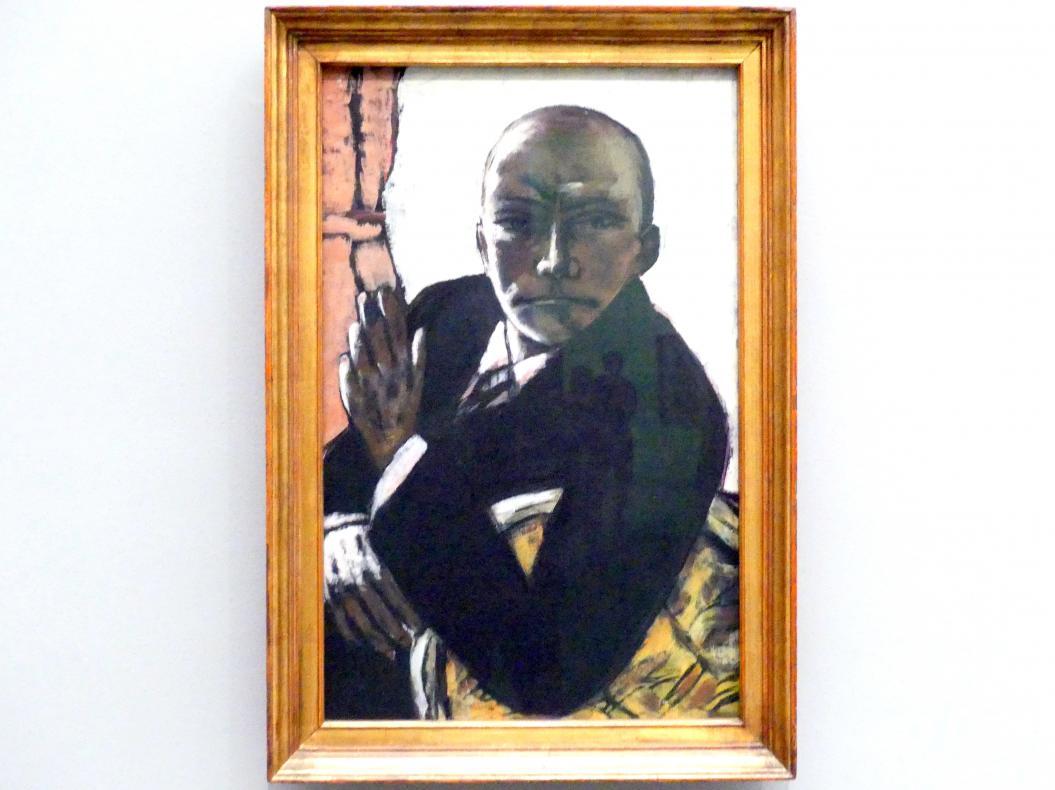 Max Beckmann: Selbstbildnis in Schwarz, 1944