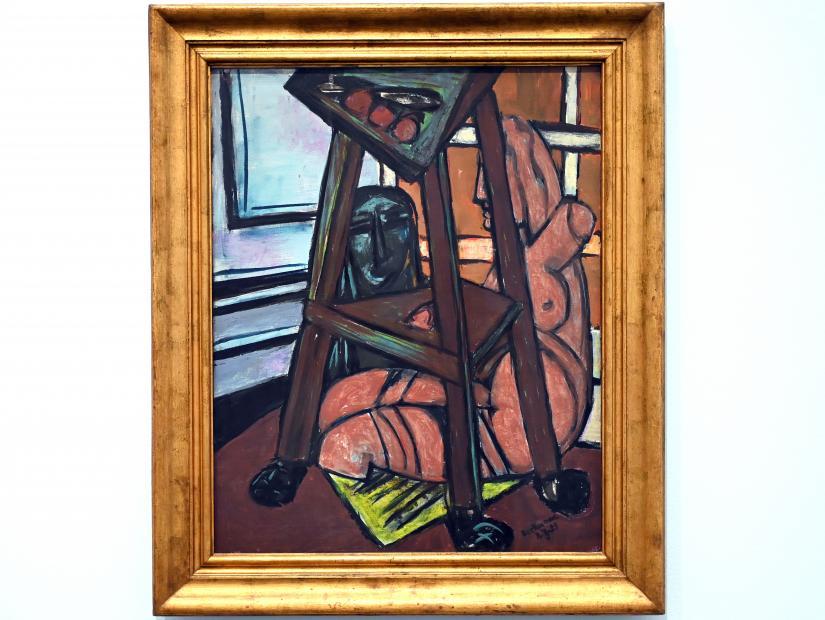 Max Beckmann: Plastik-Studio (Atelierecke), 1950