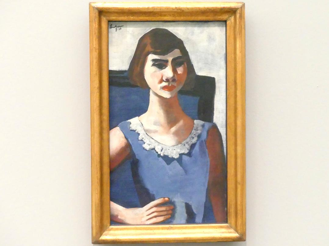 Max Beckmann: Bildnis Quappi in Blau, 1926, Bild 1/2