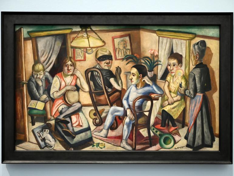 Max Beckmann: Vor dem Maskenball, 1922