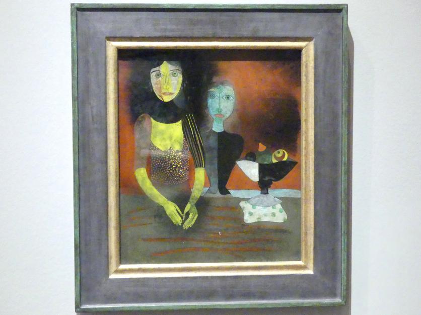 Heinrich Campendonk: Zwei Frauen am Tisch, 1920 - 1922