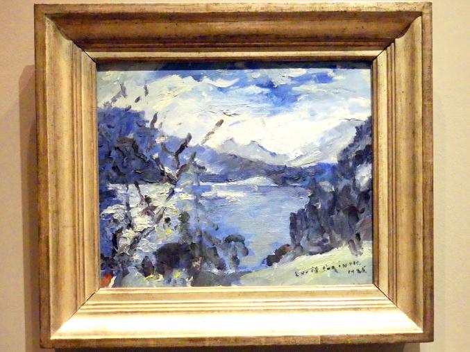 Lovis Corinth: Walchensee mit Bergkette und Uferhang, 1925