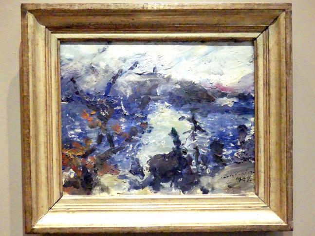 Lovis Corinth: Walchensee, Berge in Wolken, 1925