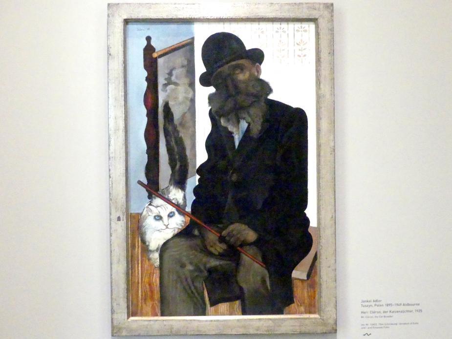 Jankel Adler: Herr Cléron, der Katzenzüchter, 1925