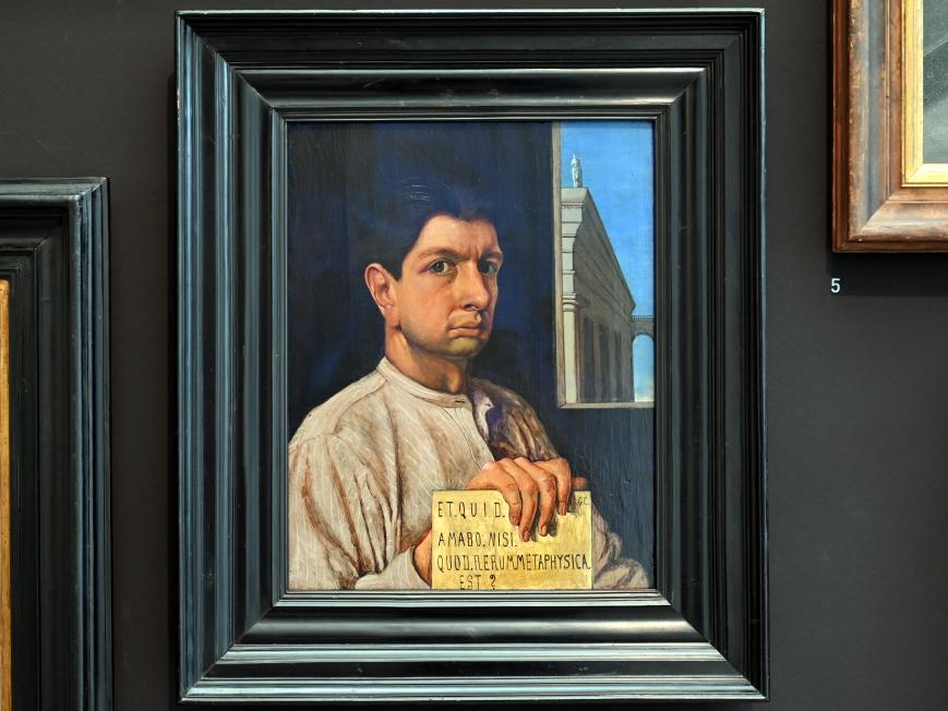 Giorgio de Chirico: Autoritratto - Selbstbildnis, 1920