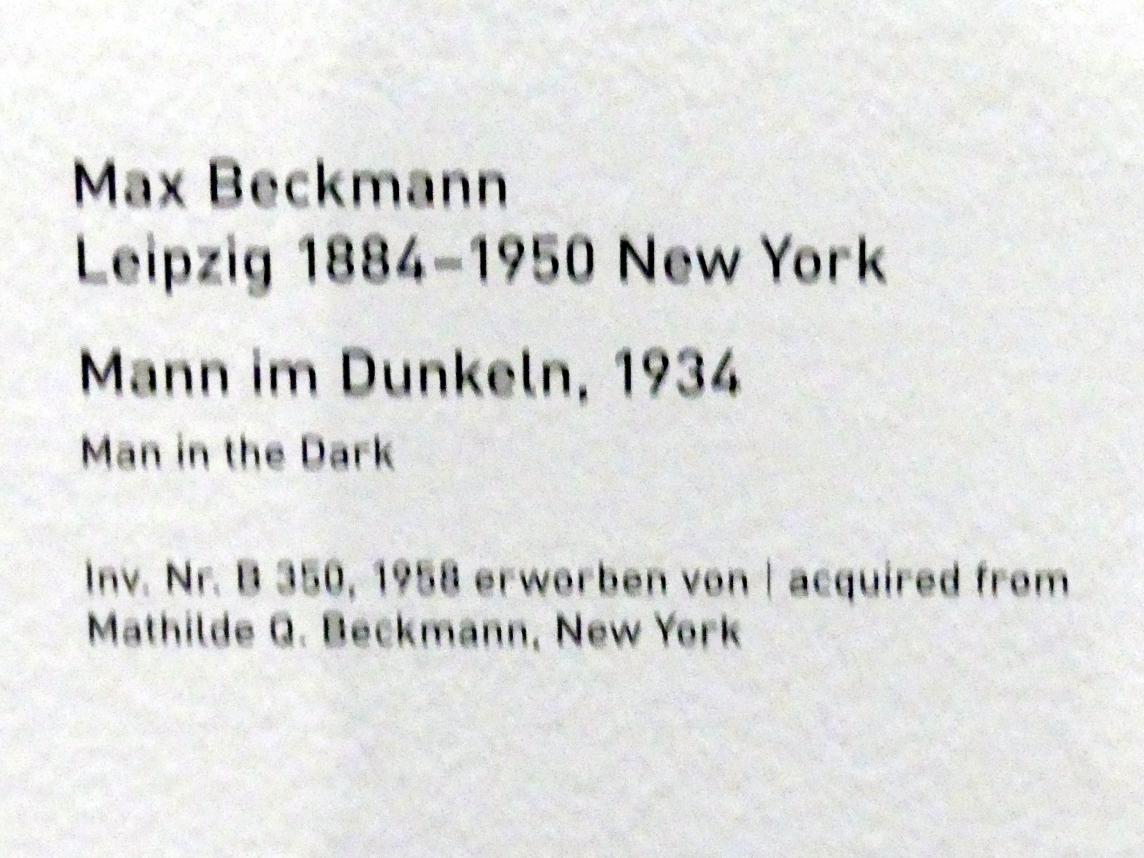 Max Beckmann: Mann im Dunkeln, 1934