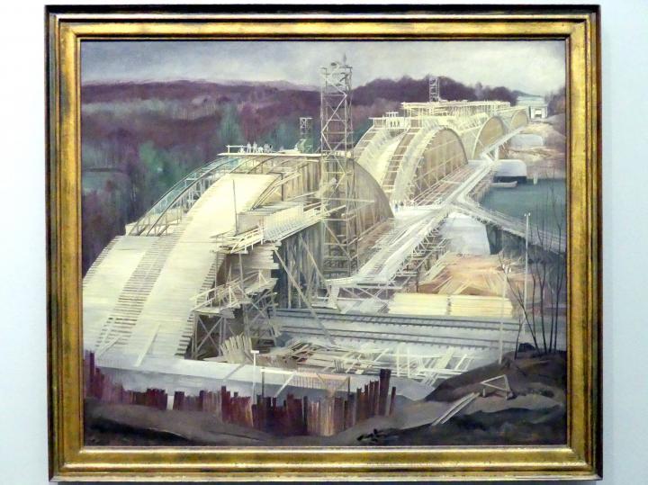 Carl Theodor Protzen: Donaubrücke bei Leipheim, 1935 - 1936