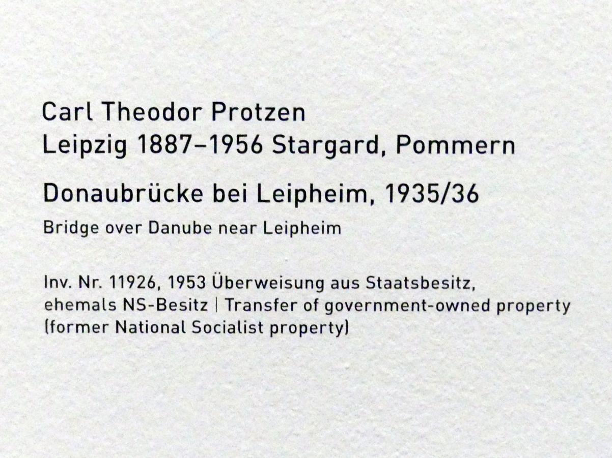 Carl Theodor Protzen: Donaubrücke bei Leipheim, 1935 - 1936, Bild 2/2