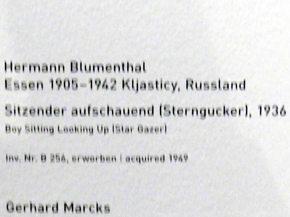 Hermann Blumenthal: Sitzender aufschauend (Sterngucker), 1936, Bild 5/5
