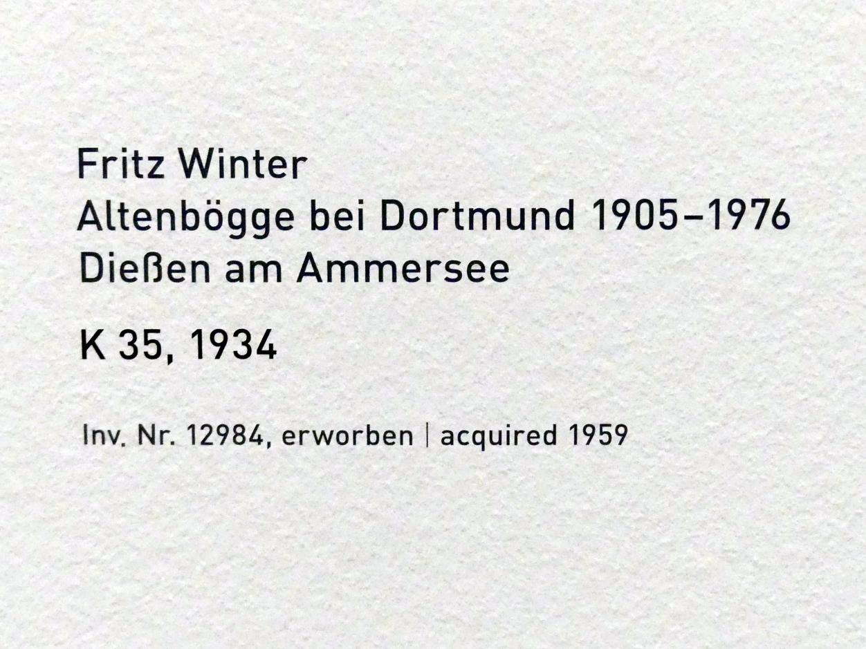 Fritz Winter: K 35, 1934, Bild 2/2