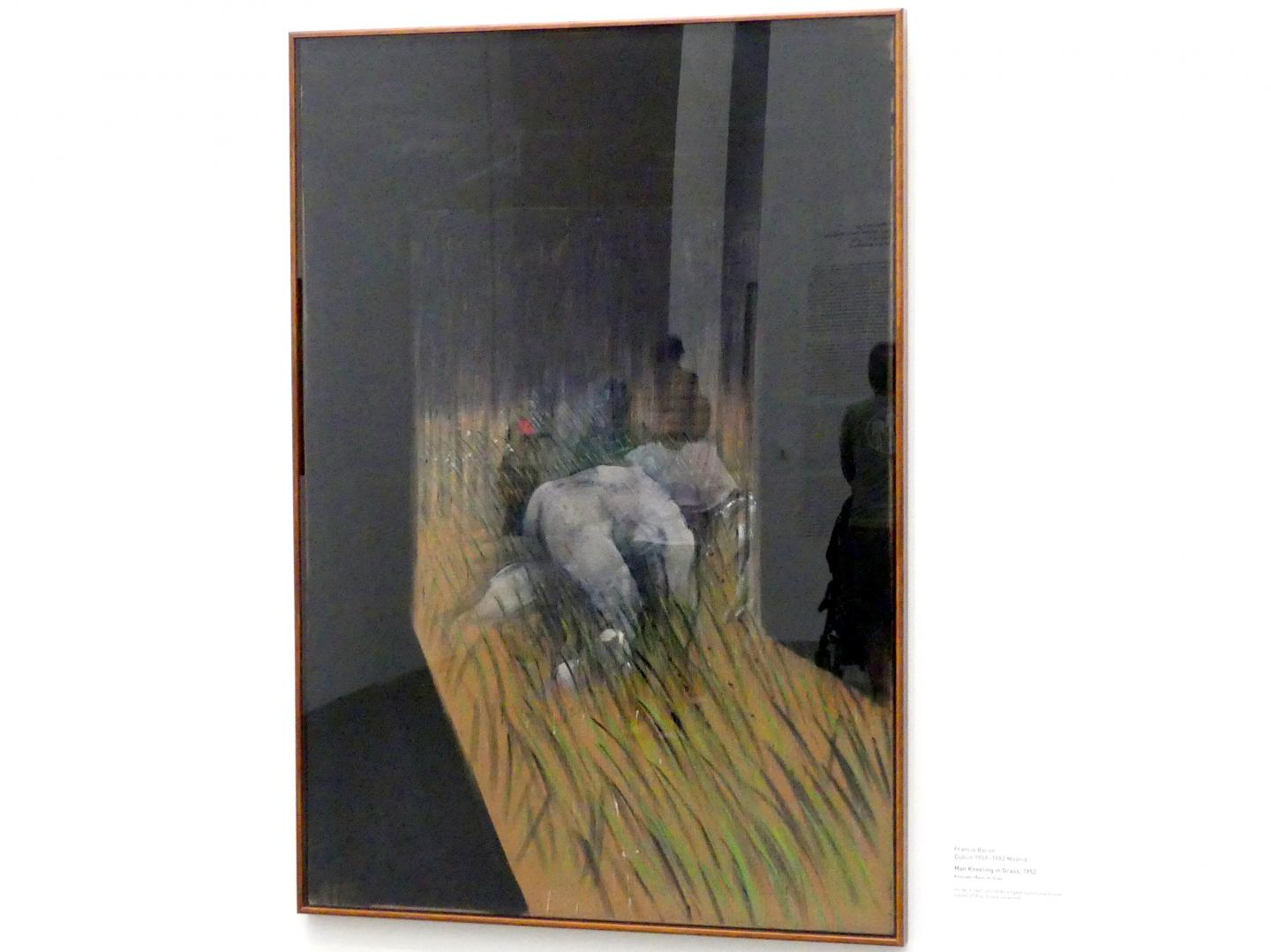 Francis Bacon: Man Kneeling in Grass - Kniender Mann im Gras, 1952