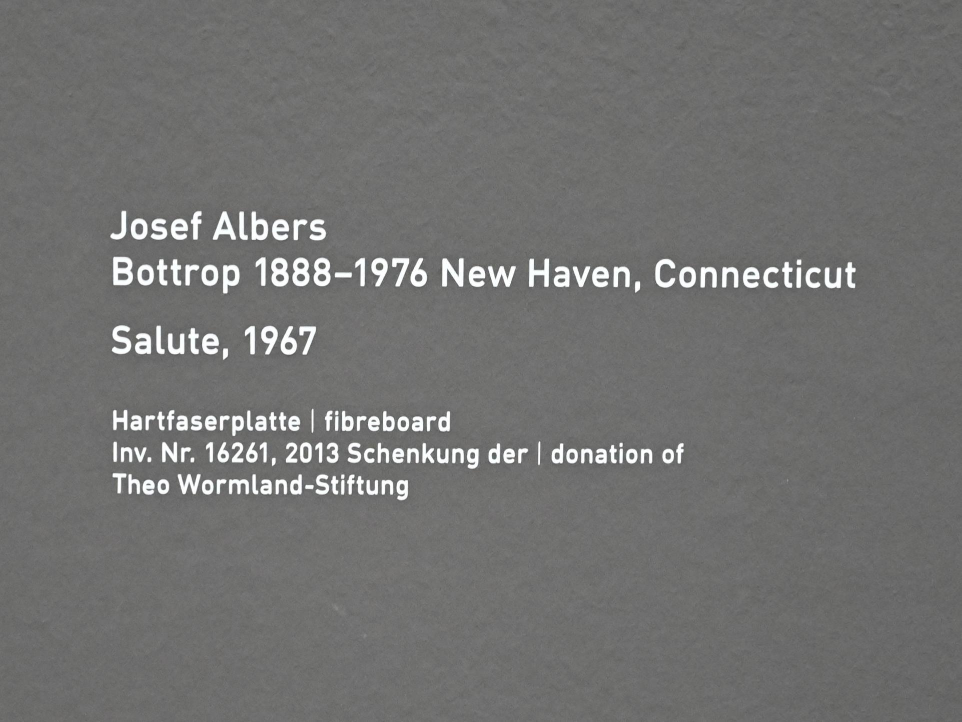Josef Albers: Salute, 1967, Bild 2/2