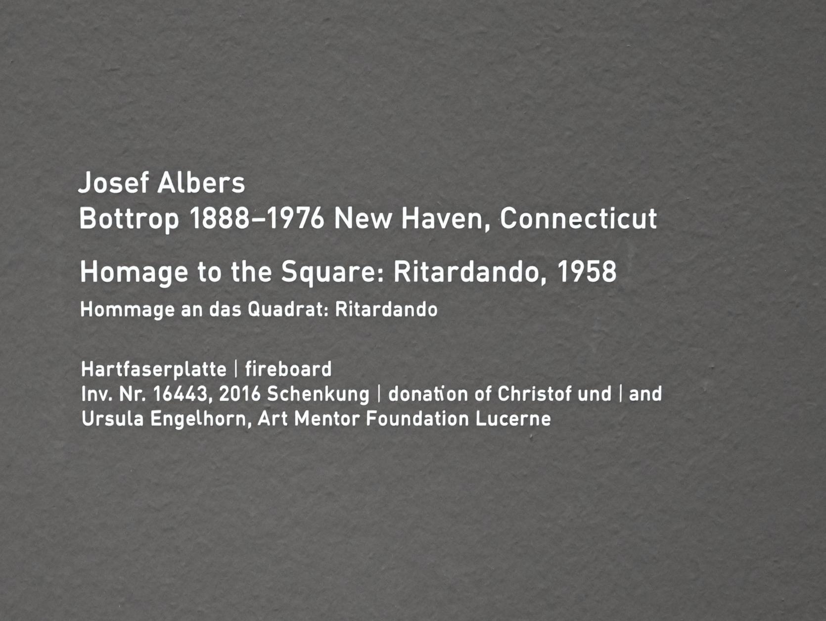 Josef Albers: Homage to the Square: Ritardando, 1958, Bild 2/2