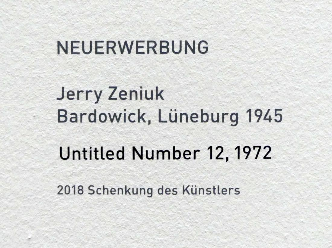 Jerry Zeniuk: Untitled Number 12, 1972