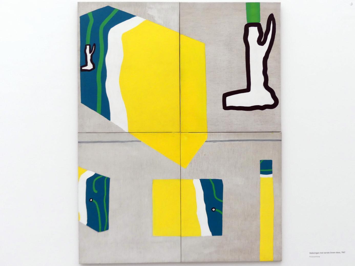 Raoul De Keyser: Oefeningen met eerste linnen doos - Übungen mit der ersten Wäschebox, 1967
