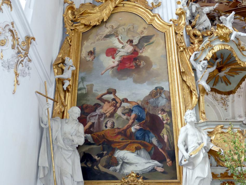 Giovanni Battista Pittoni: Seitenaltargemälde Steinigung des Heiligen Stephanus, Undatiert