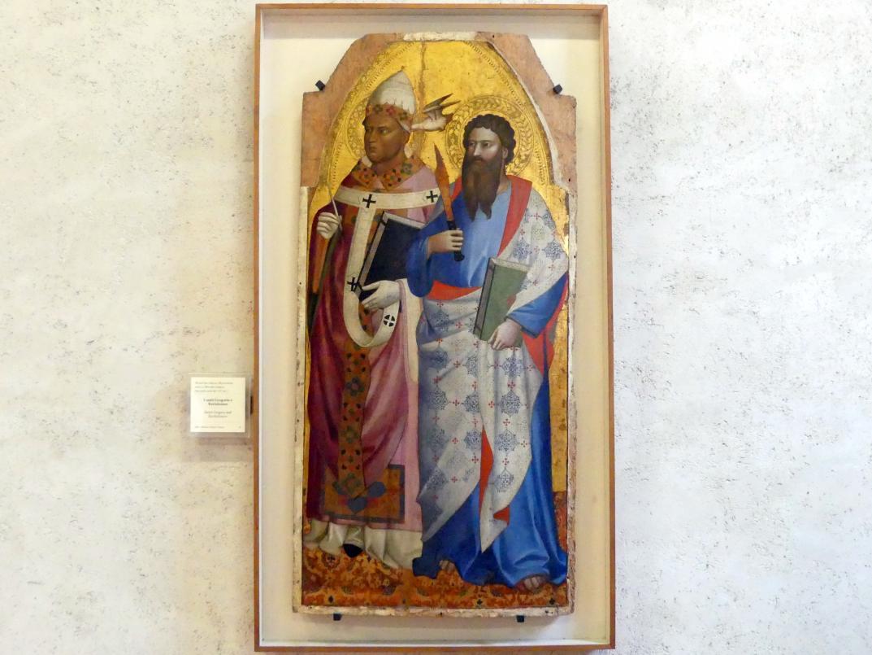 Maestro della Madonna della Misericordia: Die Heiligen Gregor und Bartholomäus - I santi Gregorio e Bartolomeo, 2. Hälfte 14. Jhd.
