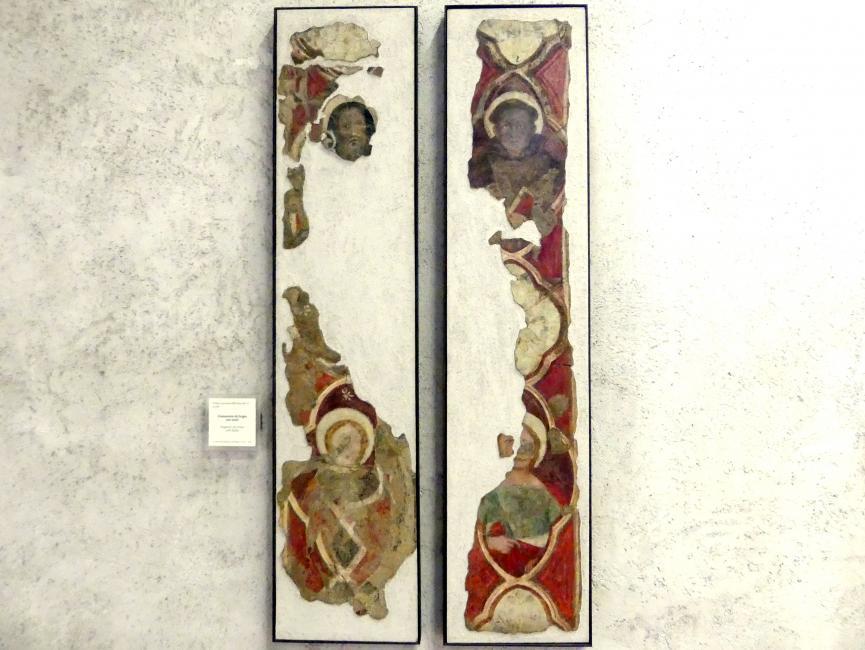 Frammento di fregio con santi - Friesfragment mit Heiligen, Ende 14. Jhd.