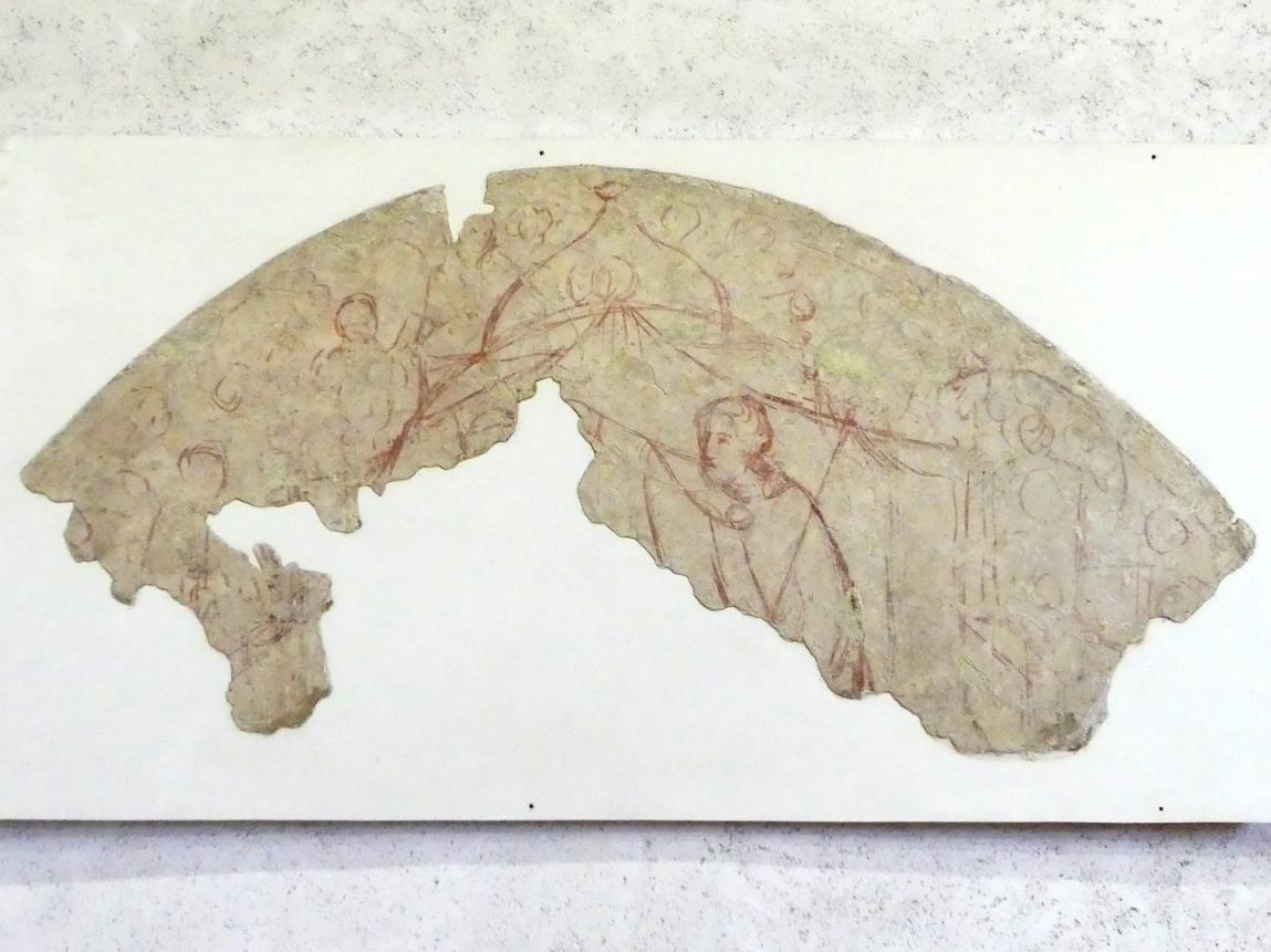 Bottega di Altichiero (Werkstatt): Sinopien (Vorzeichnung) zur Marienkrönung - erste von drei Schichten, 2. Hälfte 14. Jhd.