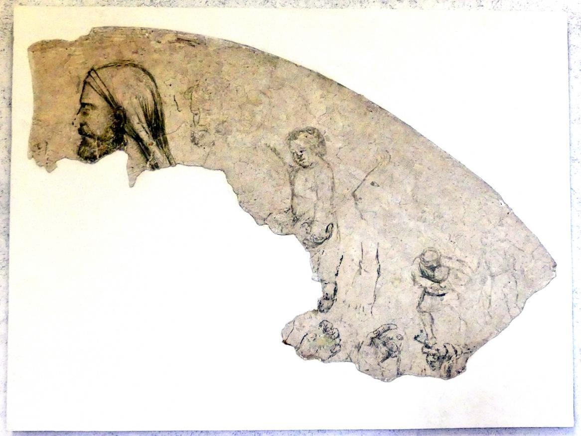 Bottega di Altichiero (Werkstatt): Sinopien (Vorzeichnung) zur Marienkrönung - zweite von drei Schichten, 2. Hälfte 14. Jhd.