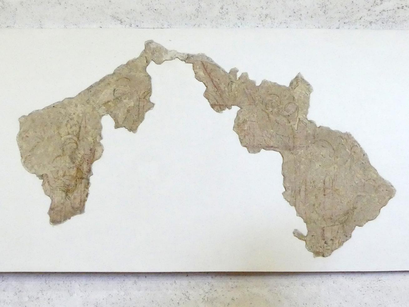 Bottega di Altichiero (Werkstatt): Sinopien (Vorzeichnung) zur Marienkrönung - dritte von drei Schichten, 2. Hälfte 14. Jhd.
