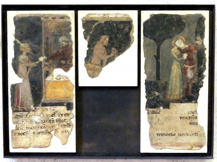 Drei Episoden aus einem Tacuinum sanitatis, 2. Hälfte 14. Jhd.