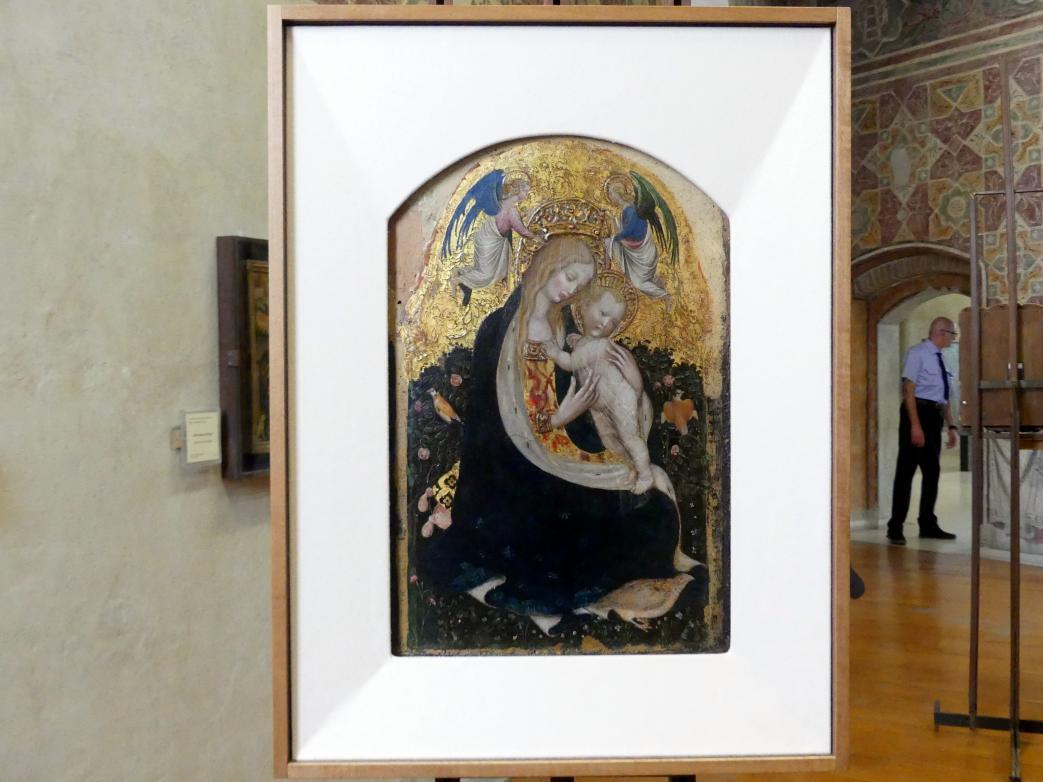 Antonio Pisanello (Antonio di Puccio Pisano): Madonna mit der Wachtel, um 1420