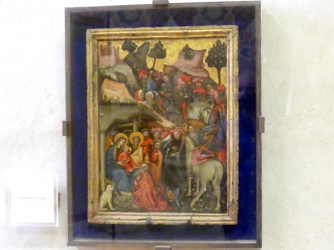 Antonio di Pietro (Werkstatt): Anbetung der Könige, 1. Hälfte 15. Jhd.