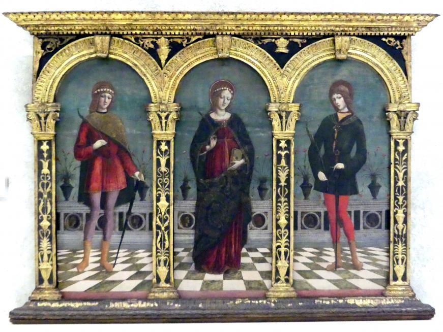 Antonio Badile II.: Die Heiligen Cäcilia, Tiburtius und Valerian, 15. Jhd.