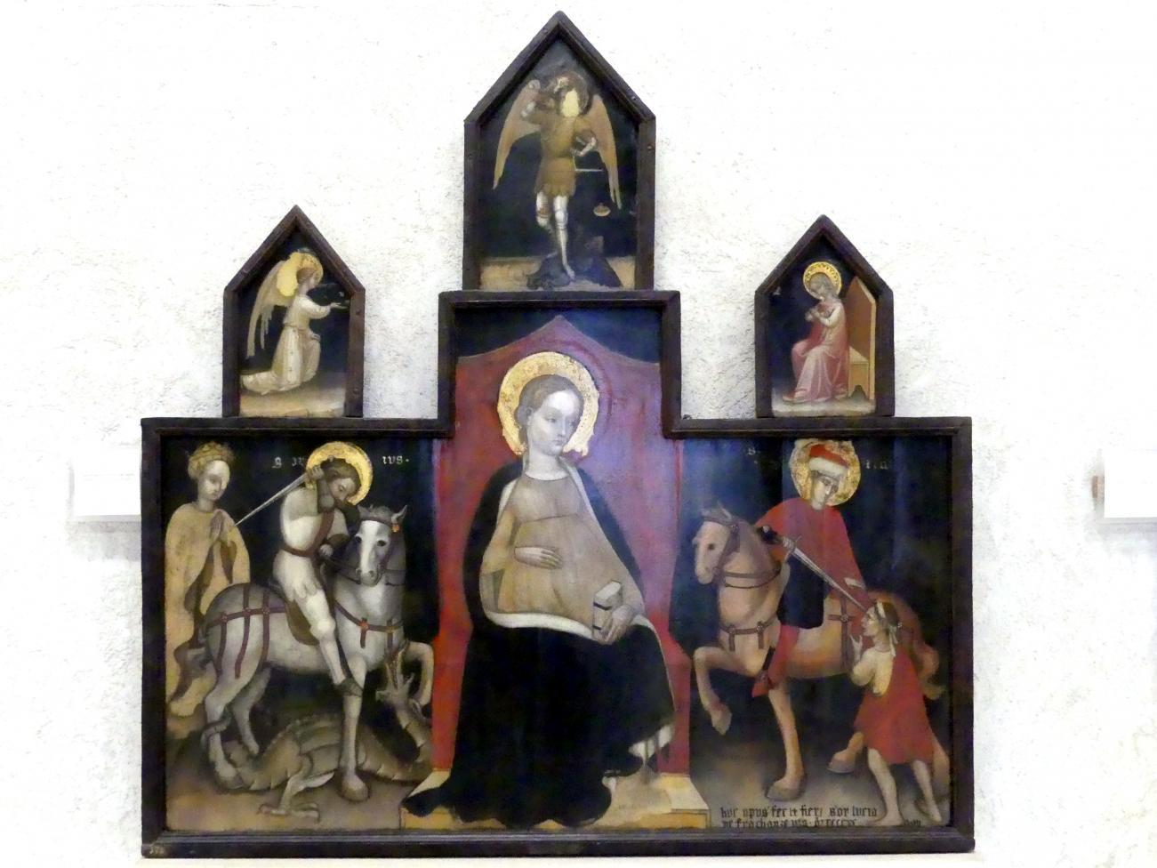 Giovanni Badile (Umkreis): Mariä Erwartung mit Heiligen (Fracanzani Altar), 1428