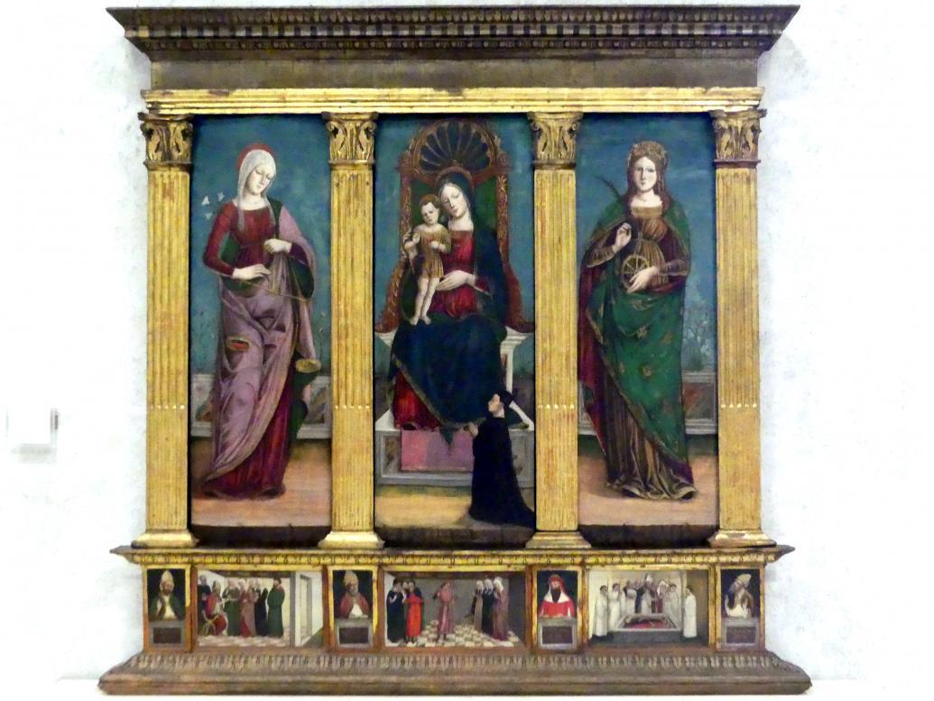 Antonio Badile II.: Maria mit Kind und den Heiligen Maria die Trösterin und Katharina, 2. Hälfte 15. Jhd.