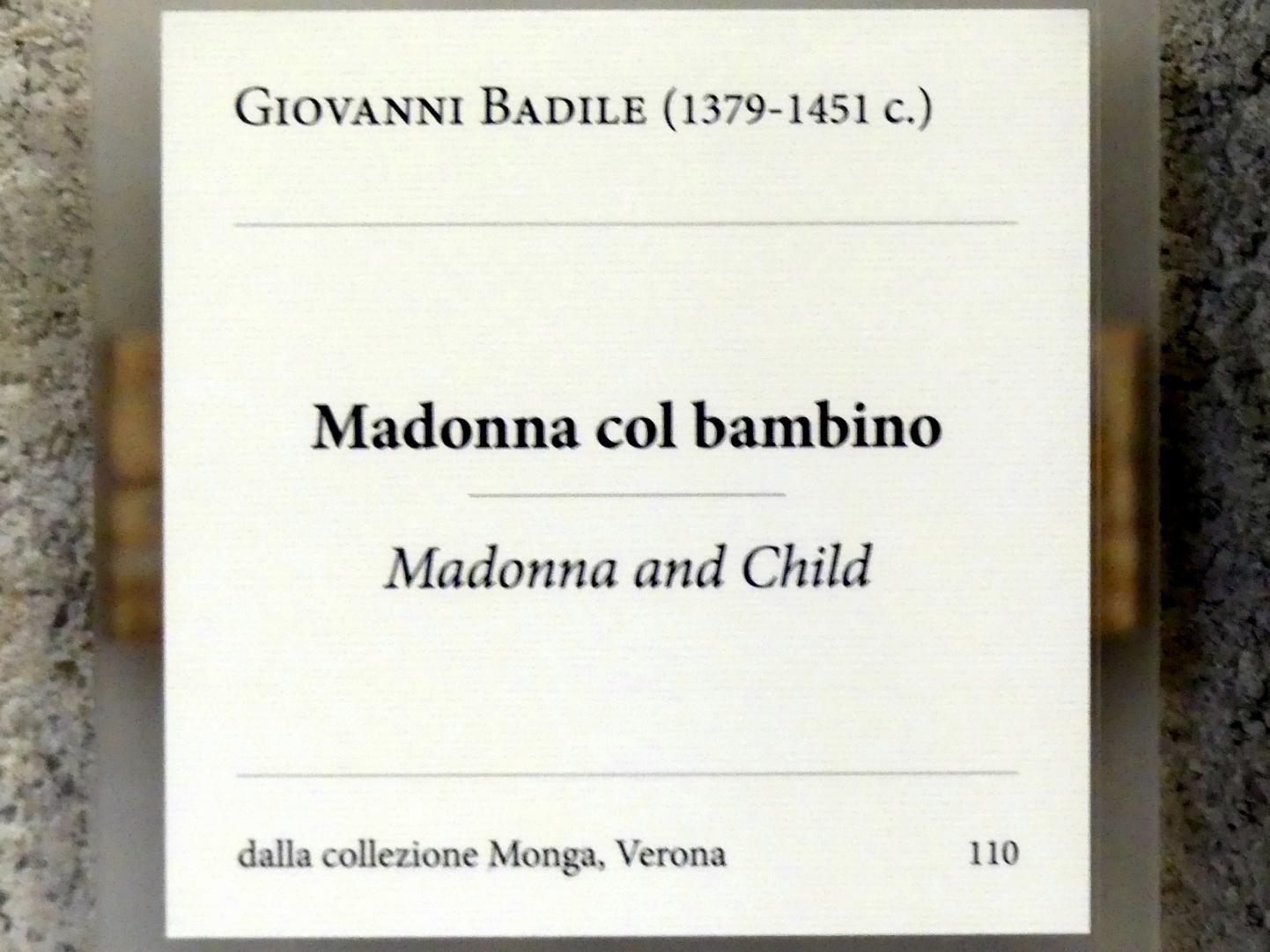 Giovanni Badile: Maria mit Kind, Undatiert, Bild 2/2