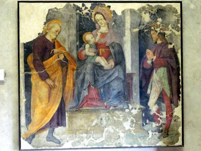 Francesco Verla: Maria mit Kind mit den Heiligen Joseph und Rochus, Undatiert