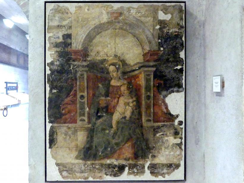 Thronende Madonna mit Kind, 1. Hälfte 16. Jhd.