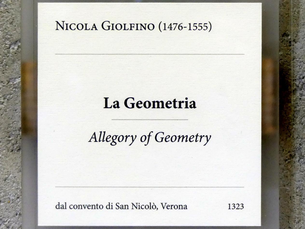 Nicola (Nicolò) Giolfino: Allegorie der Geometrie, Undatiert, Bild 2/2