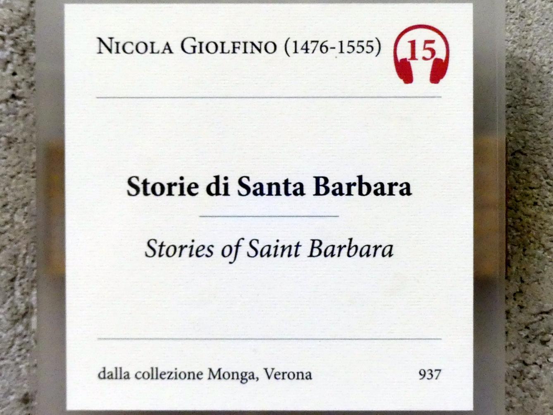 Nicola (Nicolò) Giolfino: Aus dem Leben der heiligen Barbara, Undatiert, Bild 2/2