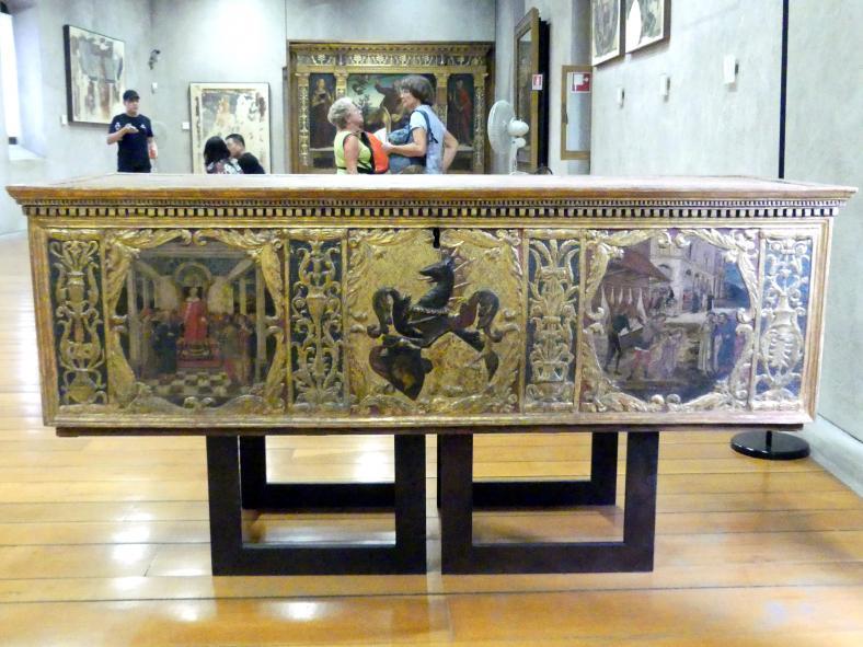Antonio Badile II.: Brauttruhe mit Wappen der Familie Giusti und Geschichten über Virginia, Undatiert