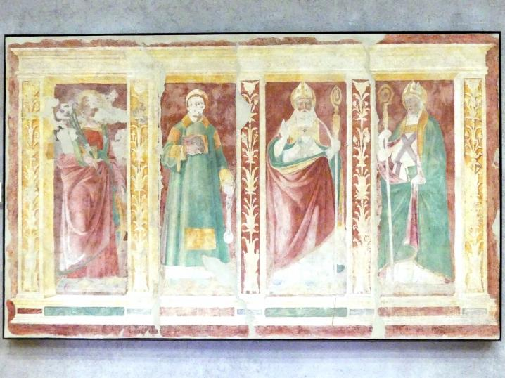 Domenico Morone: Die Heiligen Katherina, Leonhard, Godehard und Dominikus, 1502