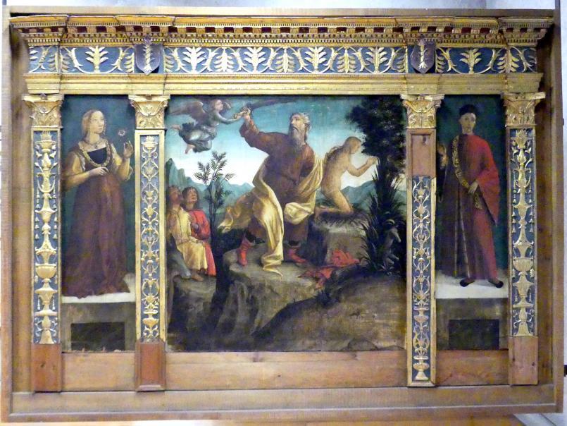 Liberale da Verona: Die Opferung Isaaks mit zwei Stiftern (Altar Miniscalchi), Undatiert