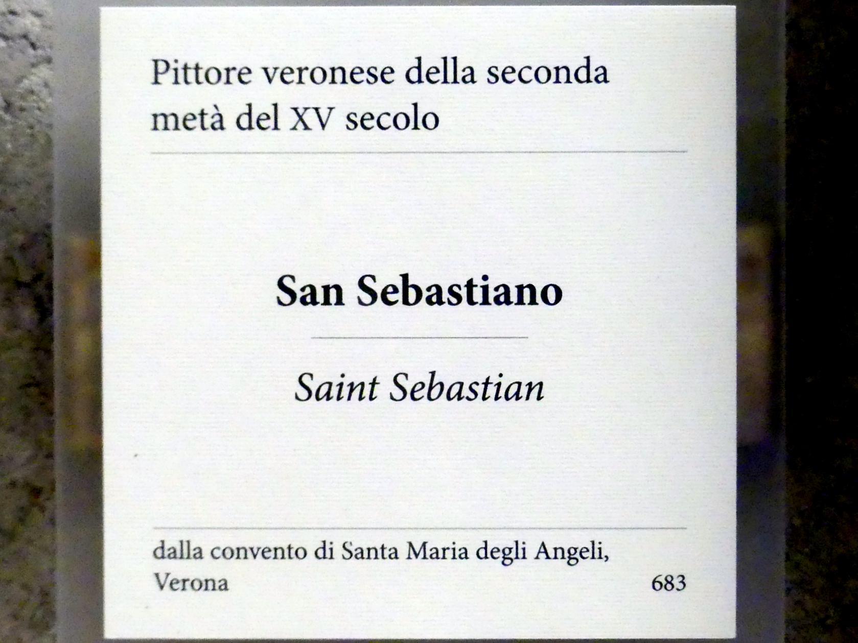 Hl. Sebastian, 2. Hälfte 15. Jhd.