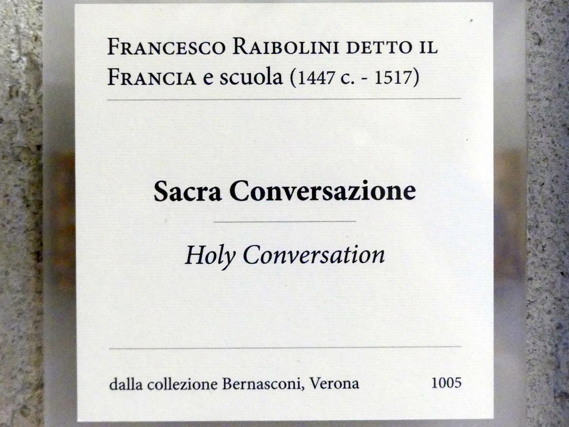 Francesco Francia (Raibolini): Maria mit Kind und Heiligen (Sacra Conversazione), Undatiert, Bild 2/2