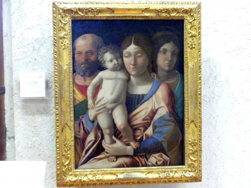Andrea Mantegna: Heilige Familie mit einer Heiligen, Undatiert