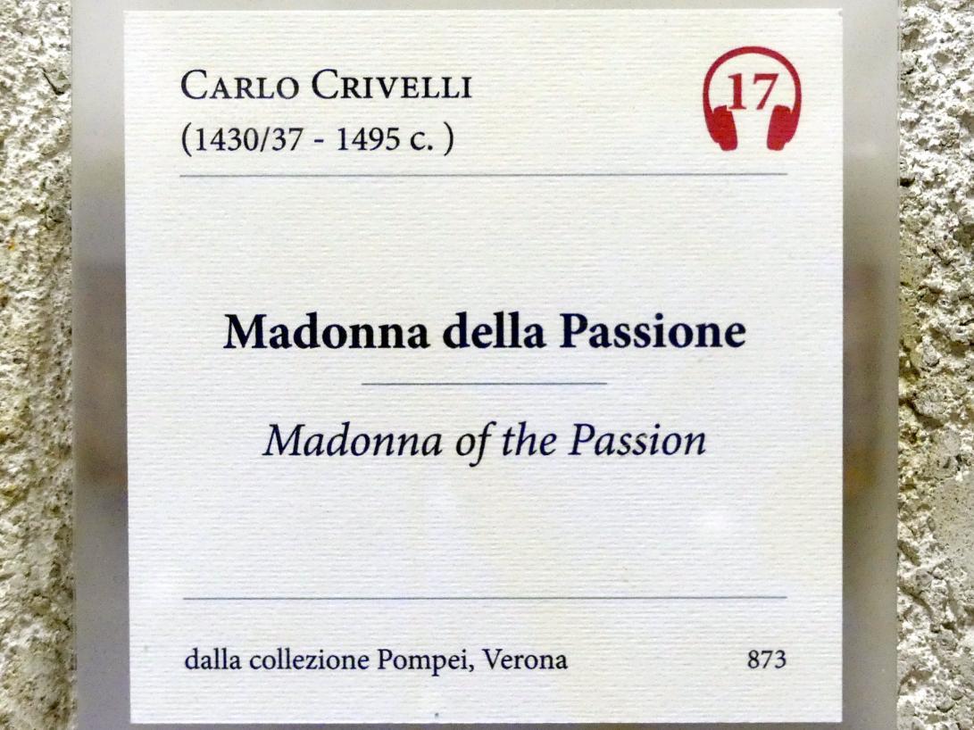 Carlo Crivelli: Maria mit Kind (Madonna der Passion), Undatiert, Bild 2/2