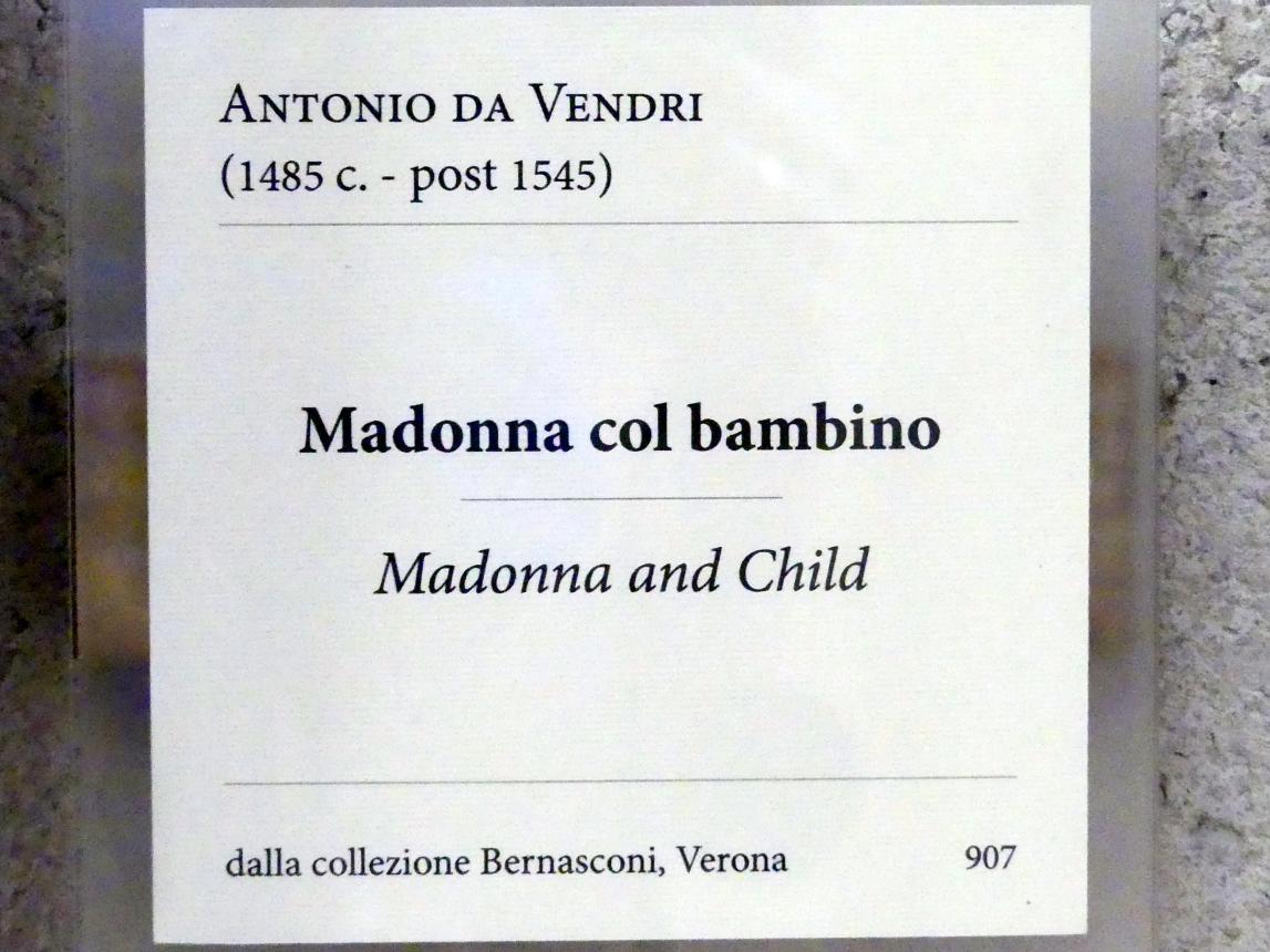 Antonio da Vendri: Maria mit Kind, Undatiert, Bild 2/2